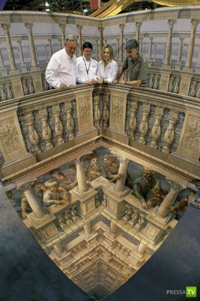 Реалистичные 3D рисунки в общественных местах (25 фото)