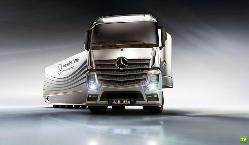 Фура которая экономит топливо, ноу хау от Mercedes-Benz