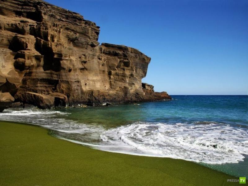 Кристальный пляж на Гавайях (7 фото)