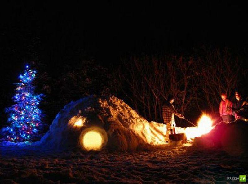 Снежные замки (45 фото)
