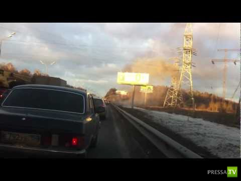Взрыв Газелина МКАД в районе Щелковского шоссе