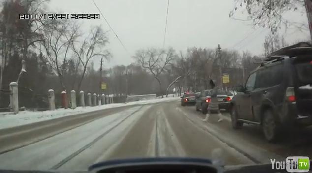 Невнимательный Пешеход-камикадзе