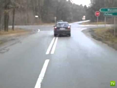 Авария в Польше по вине пьяного водителя Opel