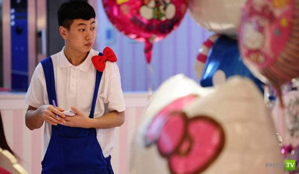 Первый ресторан Hello Kitty в Пекине (17 фото)