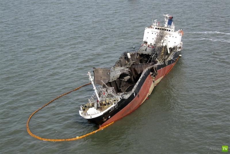 Взрыв танкера возле берегов Южной Кореи