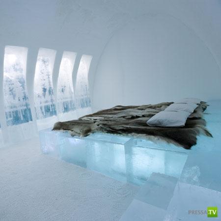 Отель из снега и льда (4 фото)