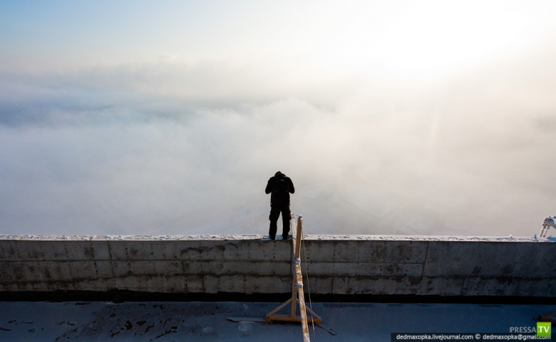 Панорамы зимнего Красноярска (28 фото)
