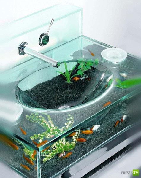 Раковина-аквариум (5 фото)