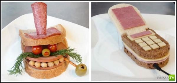 Искусство бутерброда. Сэндвич-арт от неизвестных креативщиков