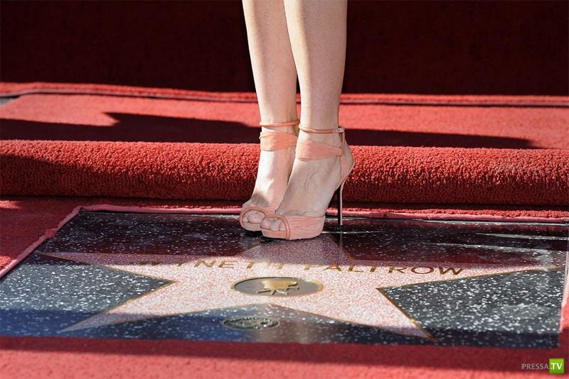 Гвинет Пэлтроу получила звезду на голливудской Аллее славы