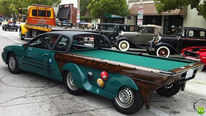 Удивительный автомобиль-бильярдный стол ( 5 фото)