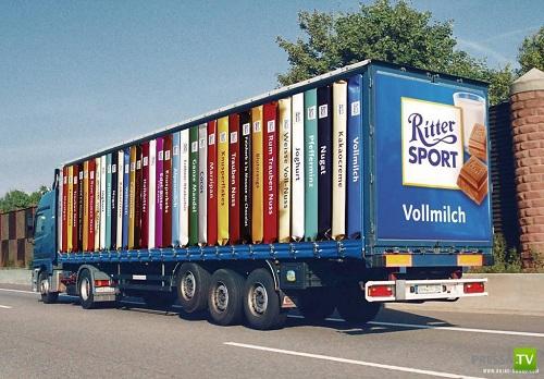 Креативная реклама на грузовиках (13 фото)