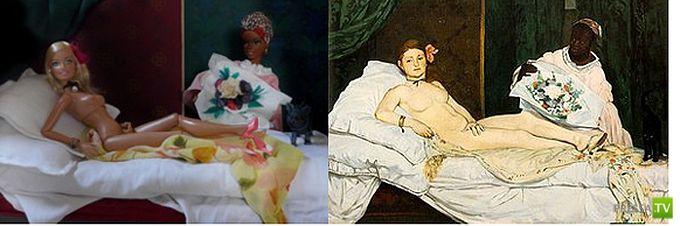 Барби и знаменитые произведения искусства