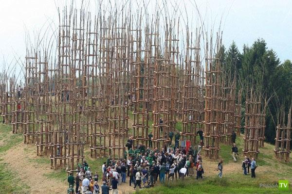 Храм из растущих деревьев в Италии (21 фото)
