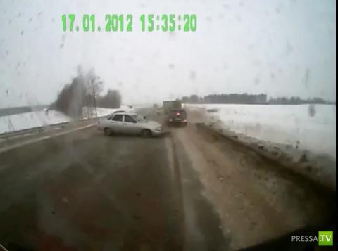 Авария на трассе в пригороде г. Ижевск