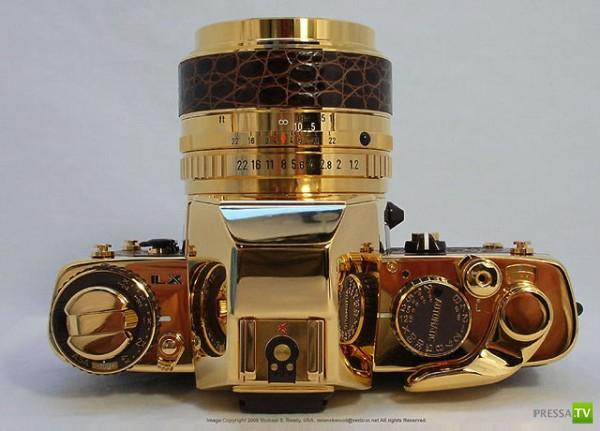 Фотоаппарат из чистого золота...Pentax LX Gold