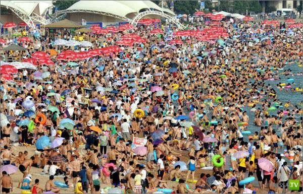 Пляж в Китае (5 фото)