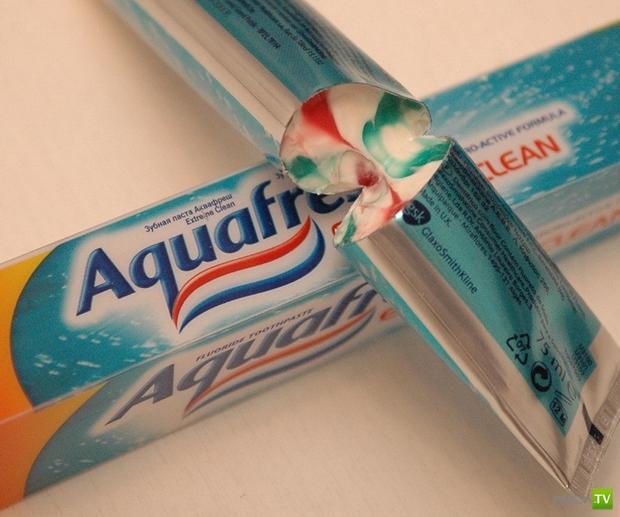 Откуда берутся полоски в зубной пасте?