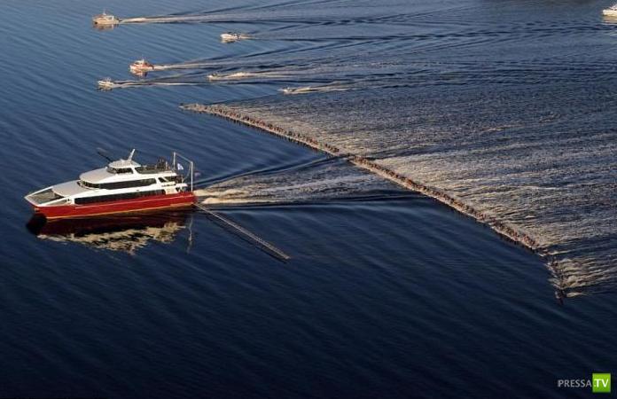 Мировой рекорд по водным лыжам...
