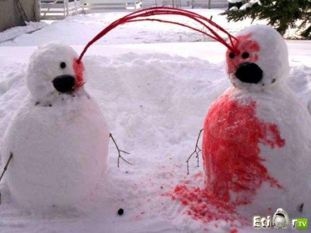 Необычные снеговики (13 фото)