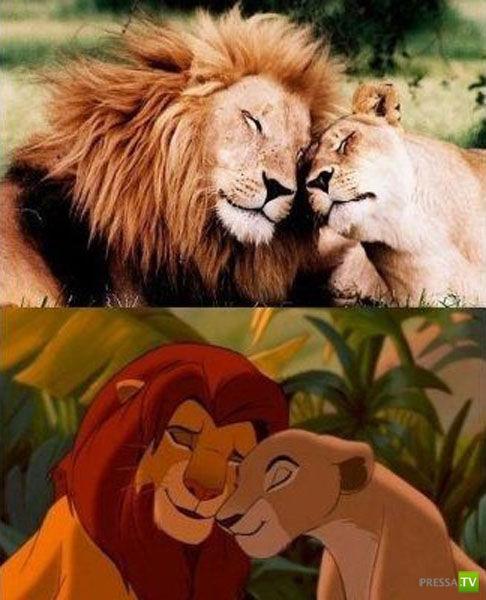 Люди и животные, похожие на персонажи мультфильмов...