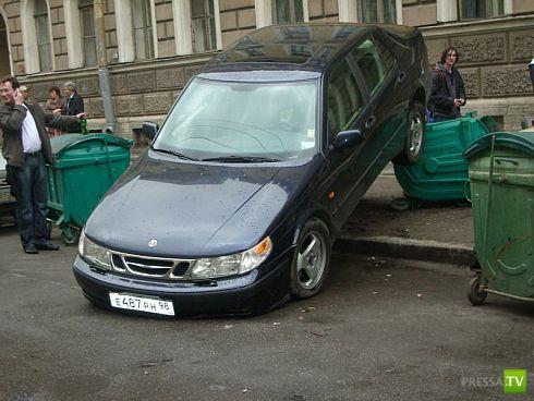 Девушка парковалась (4 фото)