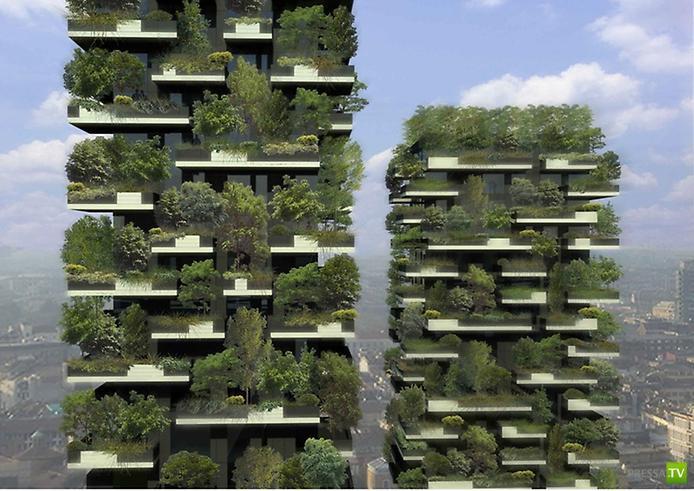 Боско Вертикале: Вертикальный лес в Милане