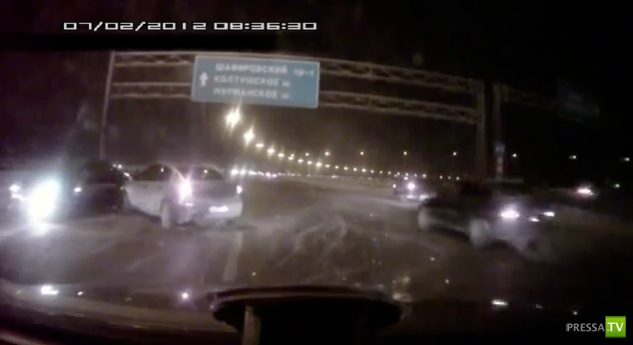 Массовая авария на КАД г. Санкт-Петербург