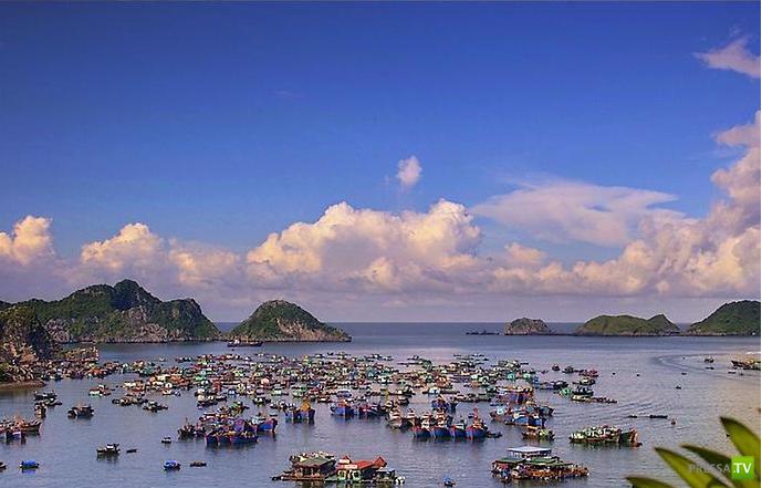 Плавающие деревни острова Кат Ба во Вьетнаме ...