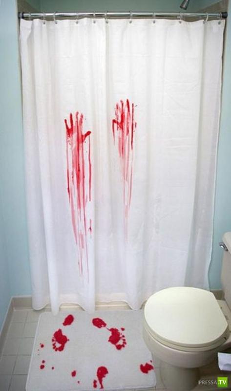Прикольные занавески в душ