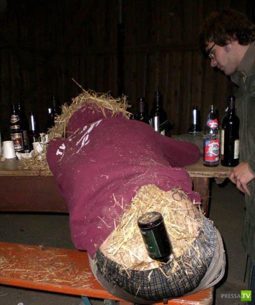 Не пейте слишком много... Иначе постигнет та же участь!
