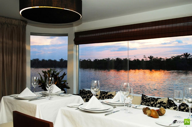 Плавучий пятизвездочный отель на Амазонке