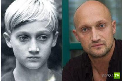 Российские знаменитости в детстве и сейчас