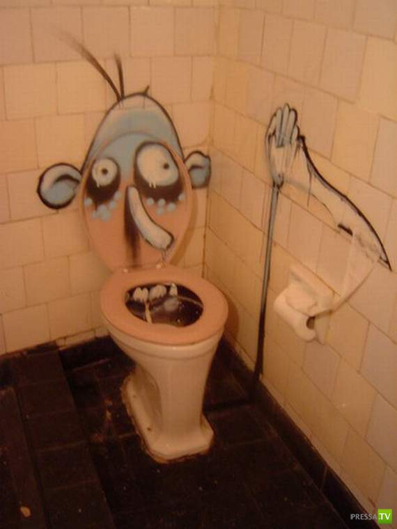 Прикольные картинка туалета