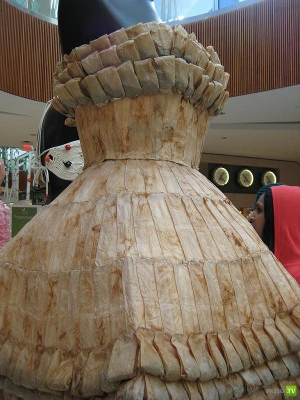 Платья из необычных материалов ...
