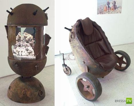 Мебель из морских мин. Автор идеи Mati Karmin