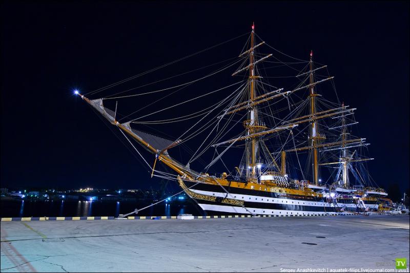 Экскурсия на парусник ВМС Италии Amerigo Vespucci (39 фото)