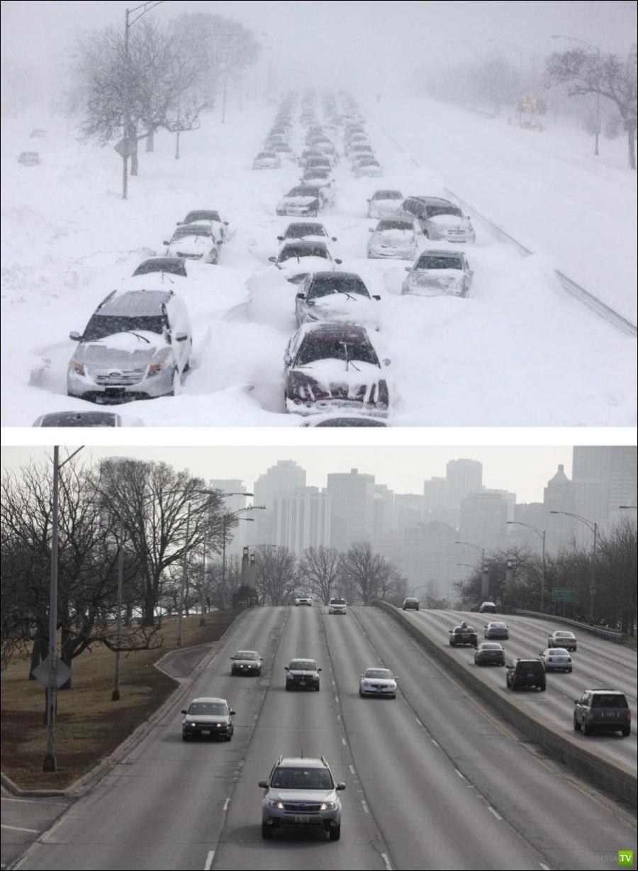 Зима в Чикаго