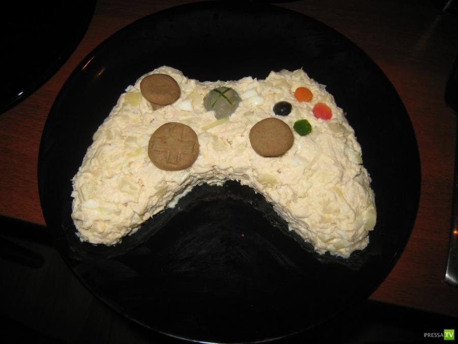 Праздничная еда для геймеров.