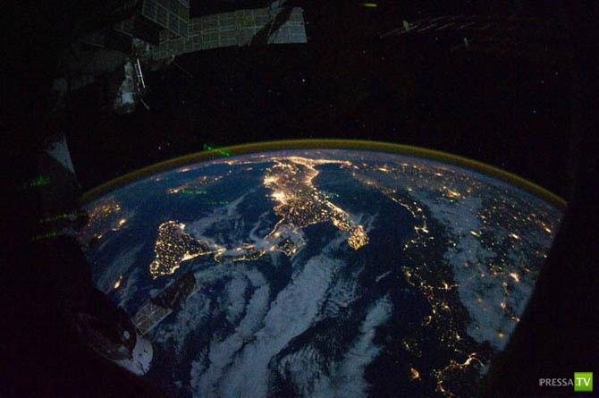 Ночные города – вид из космоса (28 фото)