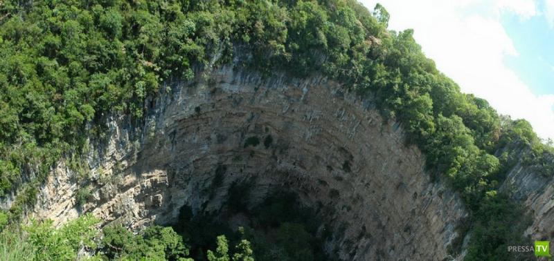 Пещера Ласточек, Мексика