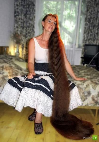 Обычная русская женщина... с необычными волосами (5фото)