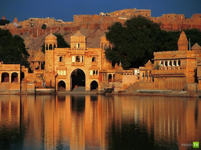 Один из самых красивых городов Индии - Золотая крепость Джайсалмер ... (10 фото)