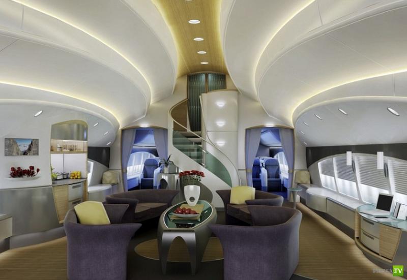 Роскошный авиа-борт для VIP-клиента (5фото)