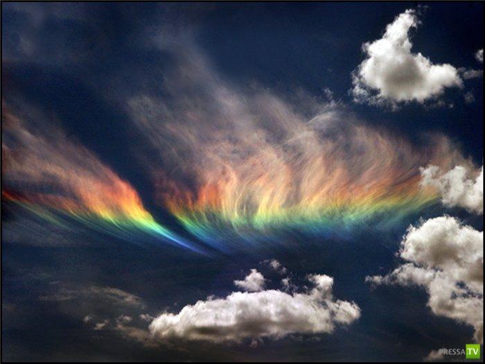 Необычная огненная радуга (7 фото)