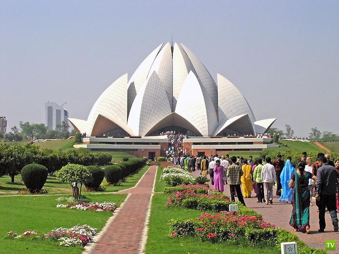 Храм Лотоса. Удивительный цветок Нью-Дели ... (11 фото)