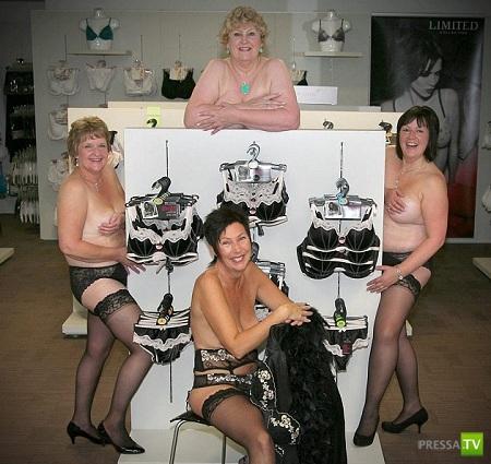 Борьба продавщиц с раком груди в Англии ... (7 фото)