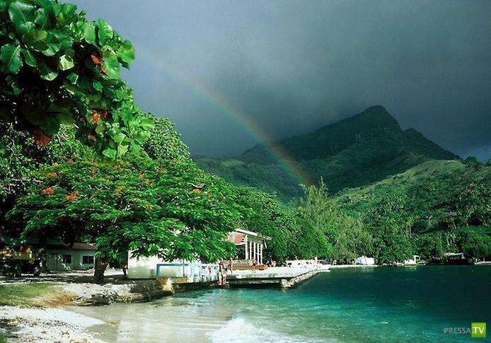 Остров Хуахине во Французской Полинезии ... (12 фото)