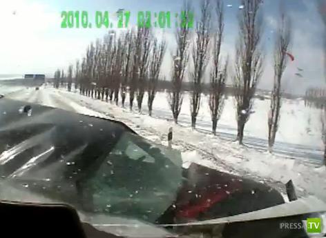 Лобовое столкновение с ВАЗ 2114 в Ставрополье