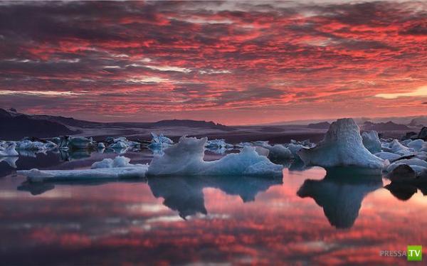Лагуна Ледников в Исландии ... (13 фото)